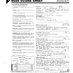Homebrew contest score sheet